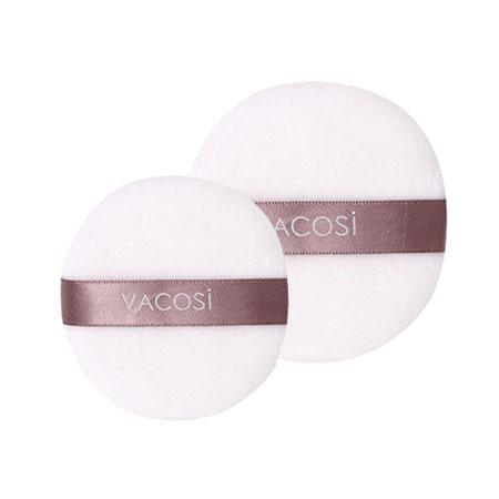 Bông phấn khô tròn trung màu trắng Vacosi Pro