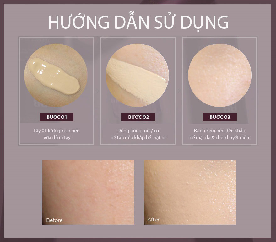 Hướng-dẫn-sử-dụng-Kem-nền-The-Face-Shop-Cream-Power-Perfection-BB-Cream