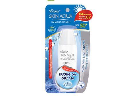 Kem chống nắng Sunplay Skin Aqua UV Moisture Milk