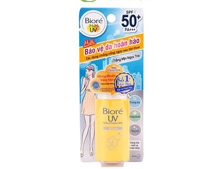 Kem chống nắng mát da Biore Perfect Protect Milk 50+