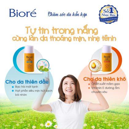 Kem-chống-nắng-mát-da-Biore-Perfect-Protect-Milk-SPF-50+-PA