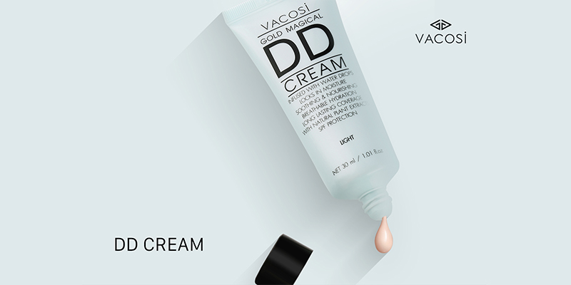 Kem Nền Vacosi Gold Magical DD Daily Defense Cream Light