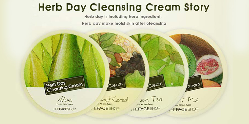 Kem-tẩy-trang-The-Face-Shop-Herb-Day-Cleansing-Cream