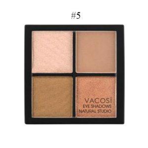 Phấn mắt 4 ô Vacosi Natural Studio Hàn Quốc – Golden Bronze