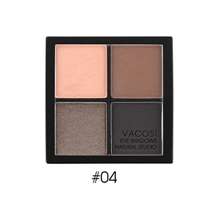 Phấn mắt 4 ô Vacosi Natural Studio Naked Brown 04