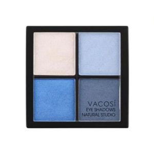 Phấn mắt 4 ô Vacosi Natural Studio Smoky Blue 02