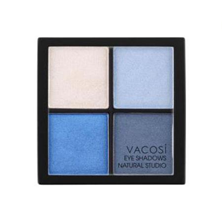 Phấn mắt 4 ô Vacosi Natural Studio Smoky Blue 02