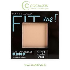 Phấn phủ Maybelline Fit Me Matte Poreless Powder 220 NATURAL BEIGE