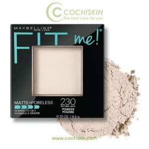 Phấn phủ Maybelline Fit Me Matte Poreless Powder 230 NATURAL BUFF