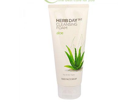Sữa Rửa Mặt The Face Shop Herb Day 365 Cleansing Foam Nha Đam