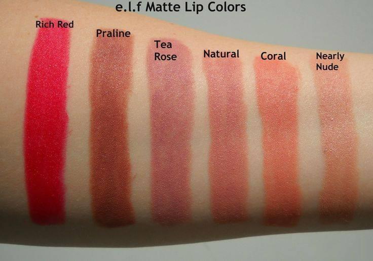 bảng-màu-Son-ELF-Studio-Matte-Lip-Color