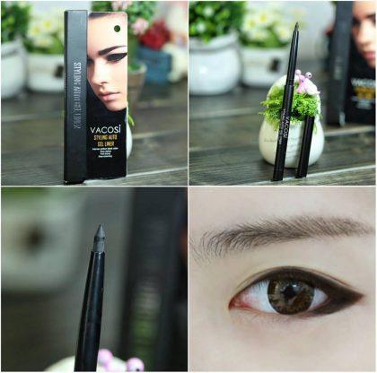 Chì kẻ mắt nước dạng gel Vacosi Styling Auto Gel Eyeliner EL01