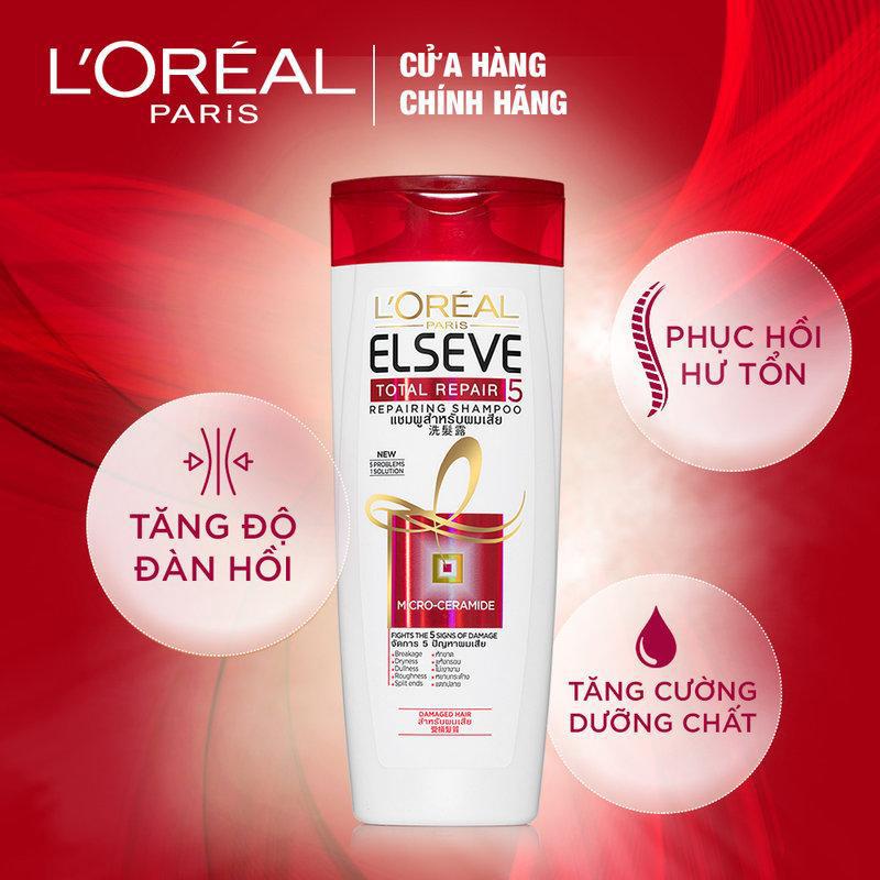 Dầu-gội-phục-hồi-tóc-L'oreal-Paris-ELSEVE-Total-Repair-Shampoo