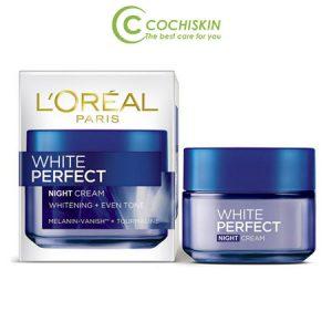 Kem dưỡng da L'oreal White Perfect Night Cream ban đêm