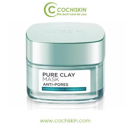Mặt nạ đất sét kiềm dầu L'oreal Pure Clay Mask Anti-pores 50ml