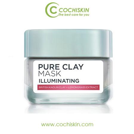Mặt nạ đất sét sáng da L'oreal Pure Clay Mask Illuminating 50ml