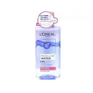 Nước tẩy trang L'oreal Micellar Water Mosturizing cho da khô