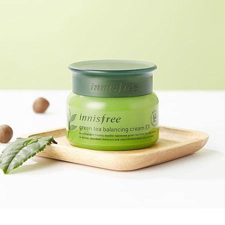Kem Dưỡng Da Innisfree Green Tea Balancing Cream EX