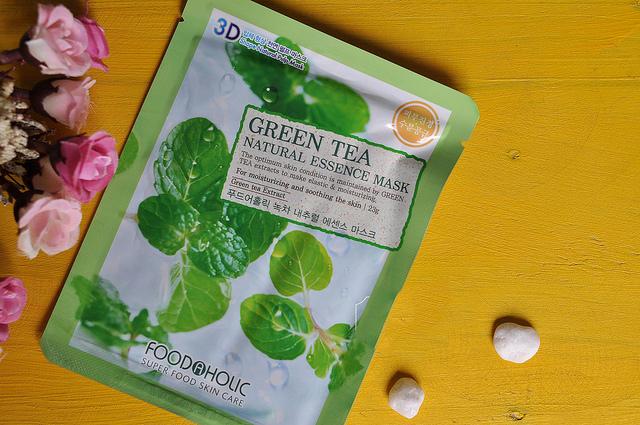 Mặt-Nạ-3D-Trà-Xanh-Green-Tea-Natural-Essence-Mask-Foodaholic
