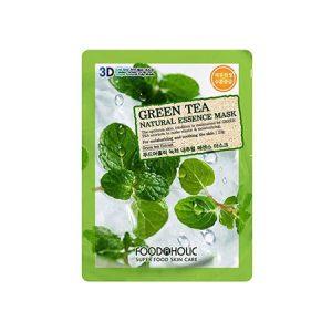 Mặt Nạ 3D Trà Xanh Green Tea Natural Essence Mask Foodaholic
