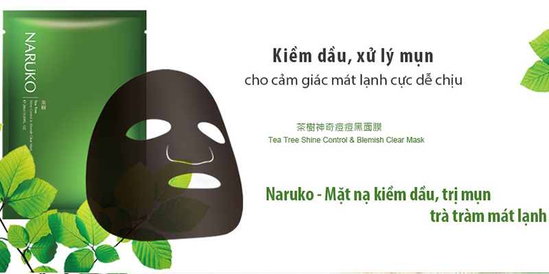 Mặt Nạ Naruko Tea Tree Shine Control Blemish Clear Mask