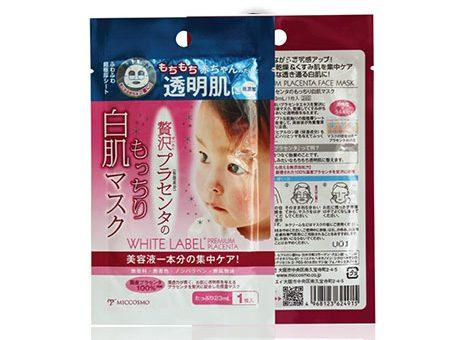 Mặt-Nạ-dưỡng-trắng-và-mềm-mịn-từ-nhau-thai-Miccosmo-White-Label-Premium-Placenta-Face-Mask
