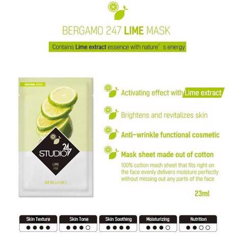 Mặt-nạ-Bergamo-Studio-Lime-Mask-Pack-Hàn-Quốc