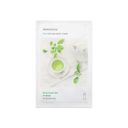Mặt nạ Innisfree My Real Squeeze Mask Green Tea Hàn Quốc
