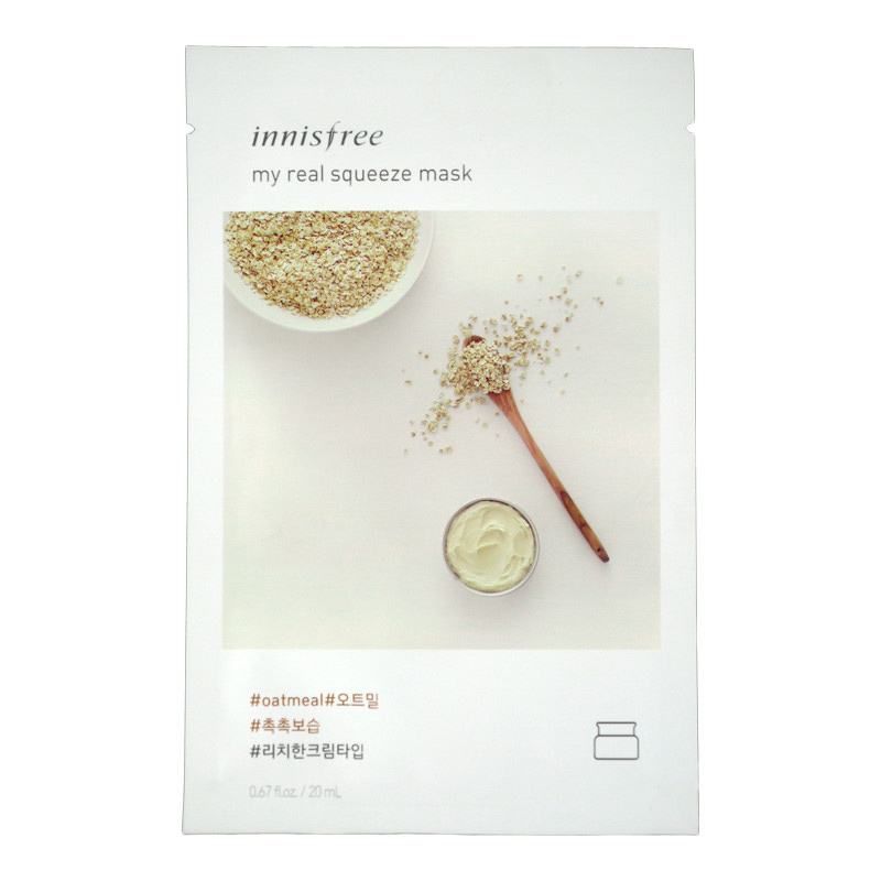 Mặt-nạ-Innisfree-My-Real-Squeeze-Mask-Oatmeal-Hàn-Quốc