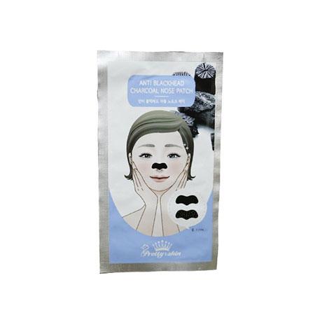 Miếng Dán Lột Mụn Mũi Pretty Skin Anti Blackhead Charcoal Nose Patch