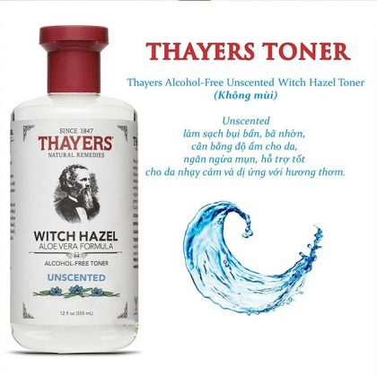 Nước-cân-bằng-da-Thayers-Alcohol-Free-Witch-Hazel-Toner-Unscented-355ml