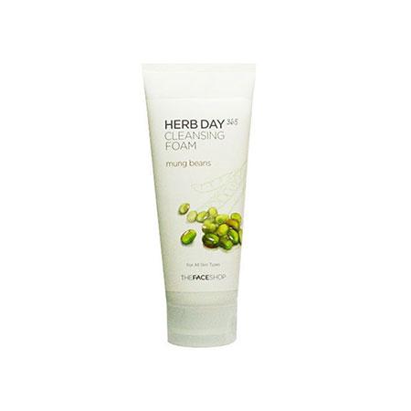 Sữa Rửa Mặt Đậu Xanh The Face Shop Herb Day 365 Cleansing Foam