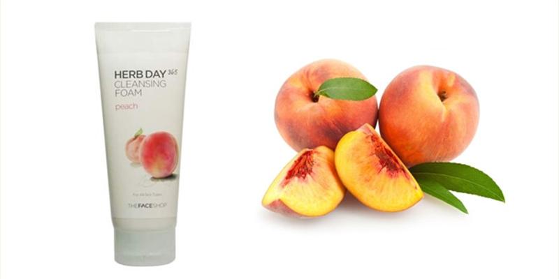 Sữa-rửa-mặt-The-Face-Shop-Herb-Day-365-Cleansing-Foam-Peach