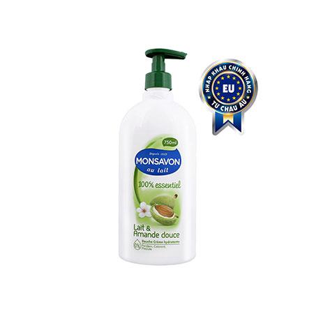 Sữa tắm Monsavon chiết xuất hạnh nhân và sữa