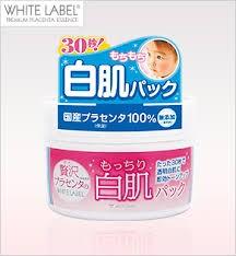 Mặt nạ rửa trôi làm trắng da White Lable Premium Placenta Pack 130g