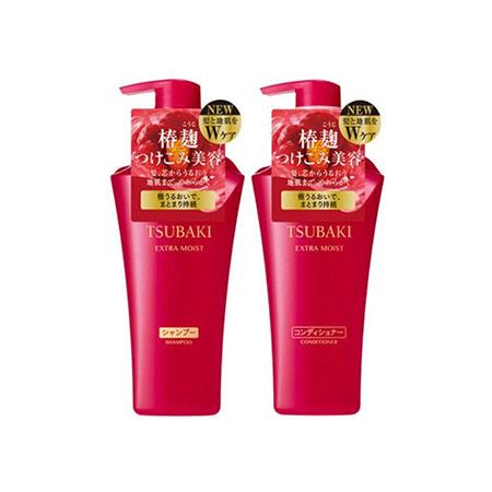 Bộ dầu gội xả Shiseido Tsubaki Nhật Bản màu đỏ