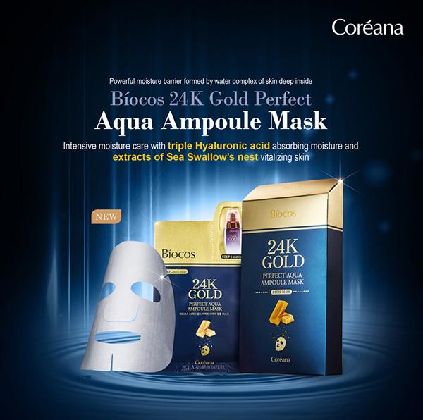 Mặt-nạ-vàng-Biocos-24k-Gold-Perfect-Aqua-Ampoule-Mask