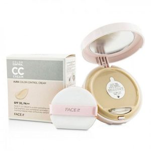 Phấn Nền The Face Shop CC Cream Face It Aura Color Control Cream