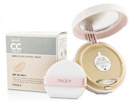 Phấn Nền The Face Shop CC Cream Face It Aura Color Control Cream