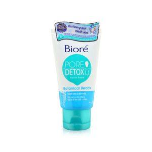 Sữa Rửa Mặt Biore Pore Detox Facial Foam Botanical Beads 100gr