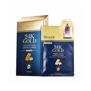 Mặt nạ vàng Biocos 24k Gold Perfect Aqua Ampoule Mask