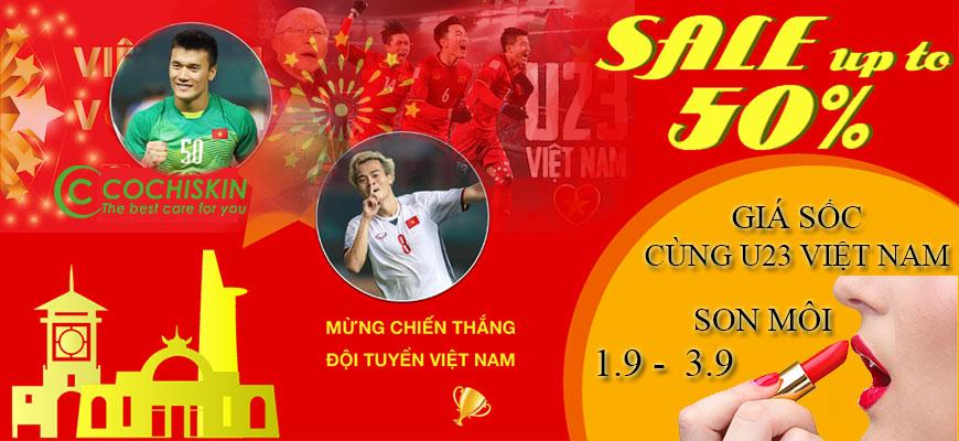 Giảm giá cực sốc cùng u23 Việt Nam
