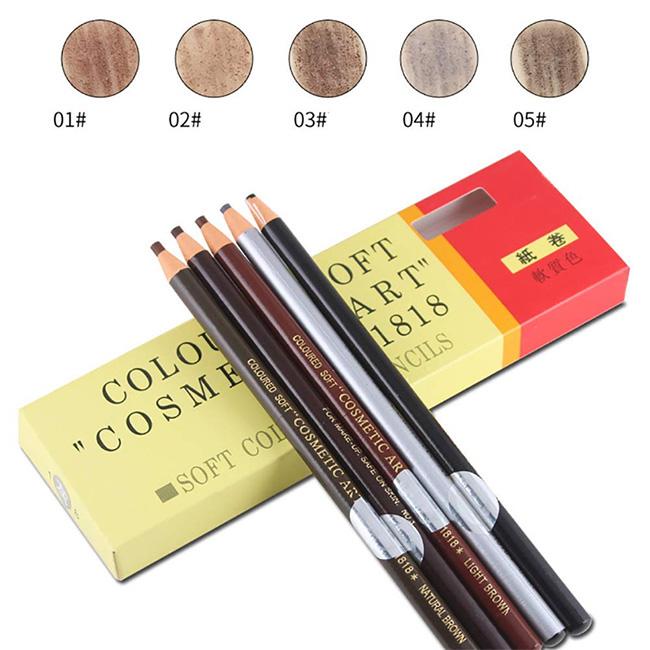 Chì-Xé-Kẻ-Chân-Mày-Coloured-Soft-Cosmetic-Art-Eyebrow-Pencil--màu-số-2-Brown