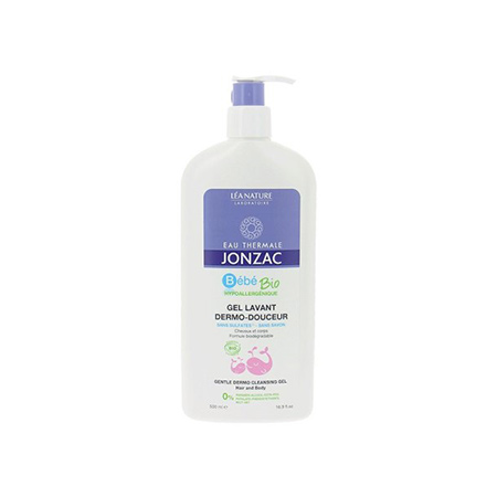 Gel Tắm Gội Eau Thermal Jonzac Bébé Bio Gentle Dermo Cleansing Gel Hair and Body 500ml