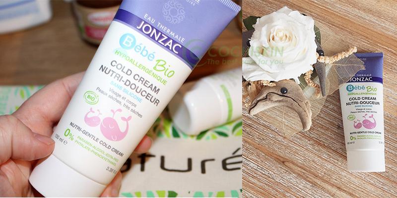 Kem Dưỡng Da Cho Bé Eau Thermale Jonzac Bébé Bio Nutri-Gentle Cold Cream 100ml
