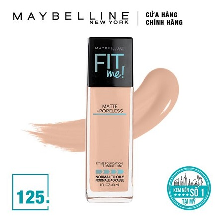 Kem Nền Maybelline Fit Me Foundation Tone 125 Nude Beige