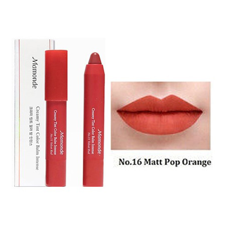 Son-Mamonde-Creamy-Tint-Color-Balm-Intense-Màu-16-Matte-Pop-Orange