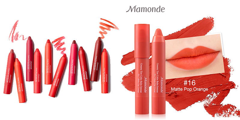 Son Mamonde Creamy Tint Color Balm Intense Màu 16 Matte Pop Orange