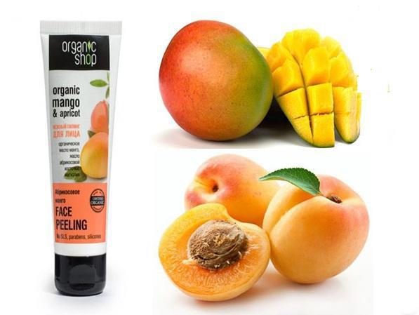 Tẩy-Tế-Bào-Chết-Da-Mặt-Organic-Shop-(75ml)-mùi-Mango-&-Apricot