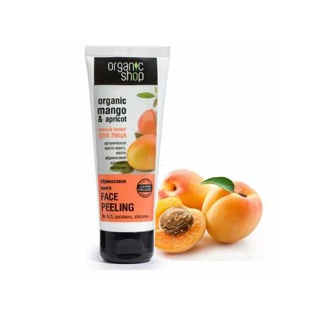 Tẩy Tế Bào Chết Da Mặt Organic Shop (75ml) mùi Mango & Apricot